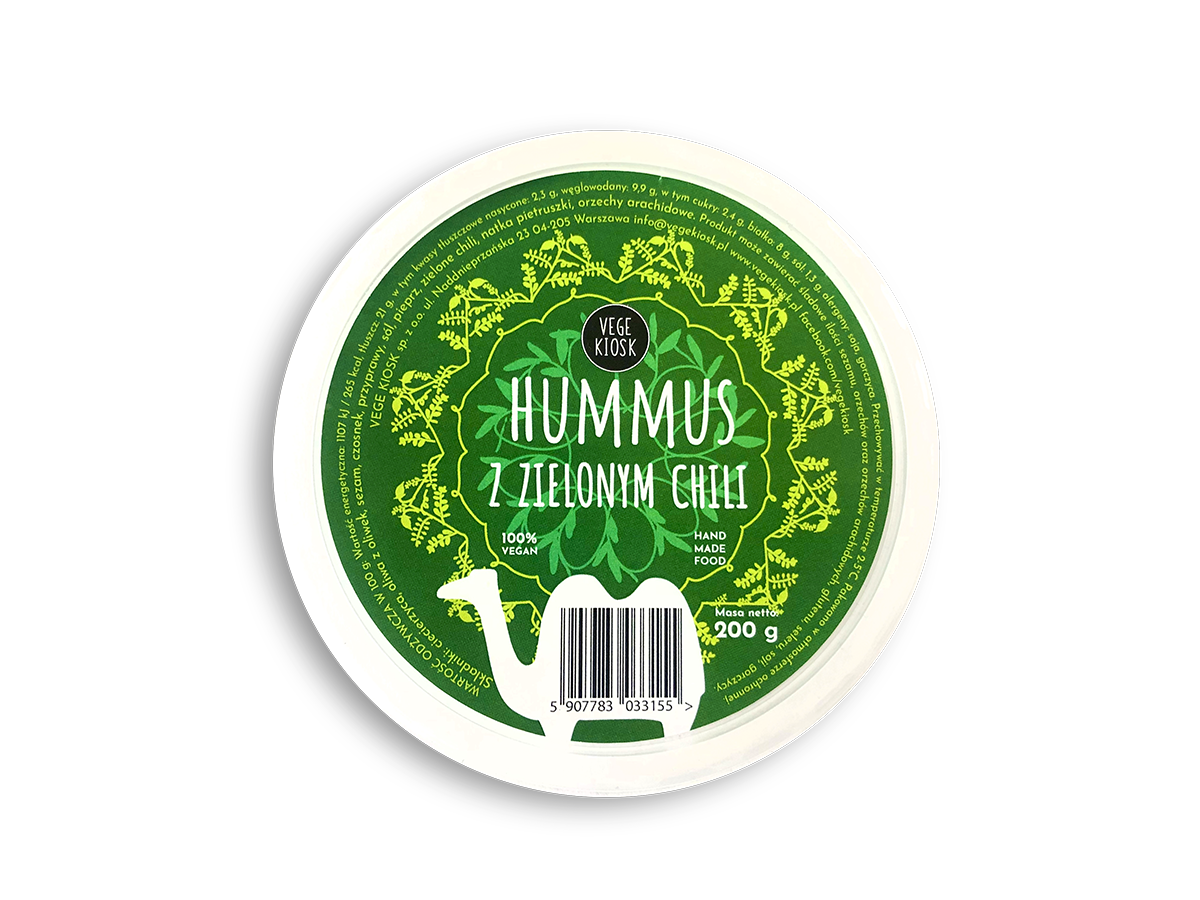 Hummus z zielonym chili
